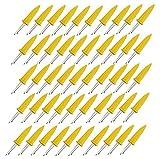 Tianher Maiskolbenhalter 50 Stück Maiskolbenspieße Edelstahl für Barbecues Grillen Küche wiederverwendbar Maisspieß Grillmais Werkzeuge