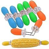 ZeWoo Set von 16 Maiskolbenhalter Grillzubehör Edelstahl Nadel Schaschlikspieße Food Fruit Forks (multicolor)